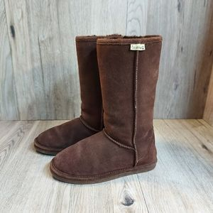 Brown Bearpaws Tall Boots Size W 7
